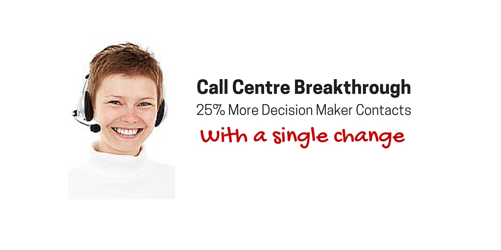 How One Change Boosted Callcentre Productivity by 25%