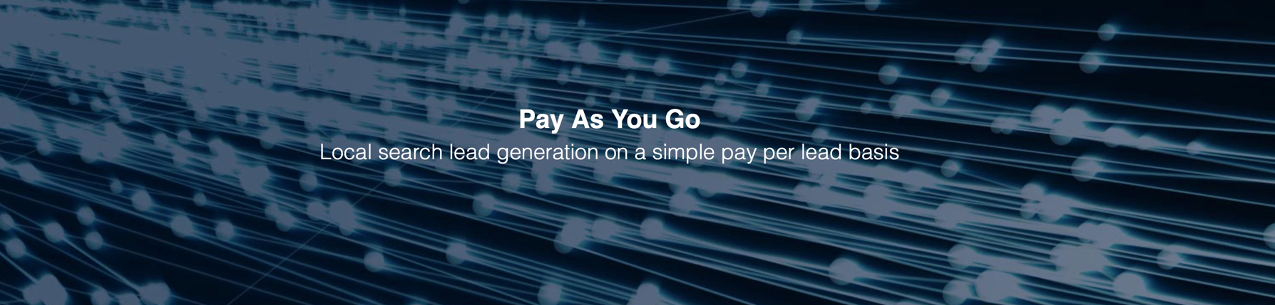 Pay As You Go, eSales Hub, Local Search Lead Generation,